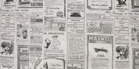100 % Bavlna OLD NEWSPAPER