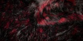 Kožešina - červená, 65mm